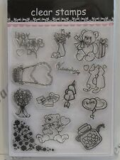 Valentines Day Love Clear Stamps 13 Designs (1685) Cardmaking Scrapbooking Craft