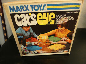 Vintage Marx Toys Cats Eye Marble Game With Original Box Nice Condition 1970'S