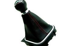 Shift Boot Real Leather For VW Jetta Vento Bora MK5 05-12 Red Stitch Manual