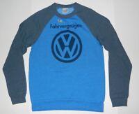 VW Logo Volkswagen Blue Fahrvergnugen Crewneck Sweatshirt New