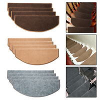 1/5/13Pcs Non-slip Adhesive Carpet Stair Treads Mats Staircase Step Rug Cover