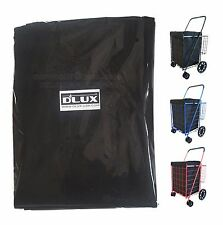 Dlux Liner Bag Only For Folding Shopping Cart Basket (Black)