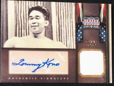 TOMMY KONO  2012 AMERICANA HEROES  52 & 56 olympic gold #/99  AUTO  RELIC CARD