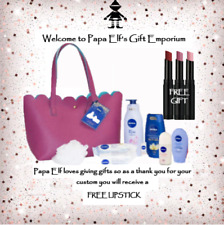 NIVEA GIFT SET IN LUSH PINK TOTE BAG + FREE LIPSTICK Perfect for Valentines Day