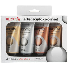 Reeves Acrylic Color 75ml 4/Pkg-Metallic
