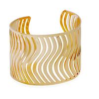 Fashion Retro Men Women Gold Hollow Out Punk Bangle Cuff Wide Bracelet Jewelry