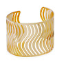 Fashion Retro Men Women Gold Hollow Out Punk Bangle Cuff Wide Bracelet Jewelry