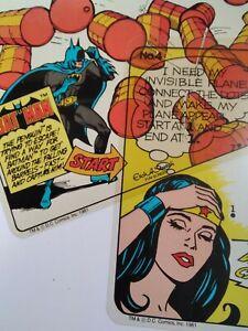 ETCH A SKETCH Action Pack Vtg 1981 BATMAN Wonder Woman 6 reusable color screens