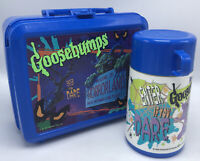 Goosebumps Welcome to Horrorland Aladdin  Blue Lunchbox With Thermos  *READ*