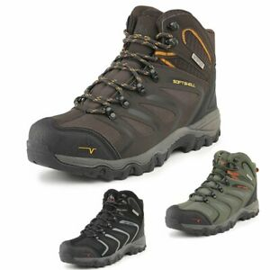 Mens Outdoor Backpacking Hiking Boots  Lightweight Waterproof  Trail Boots Shoes