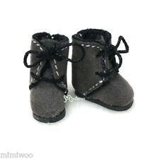 Middie Blythe Hujoo Baby BB Obitsu 11cm Body Doll Shoes Flocked Boots Grey BS