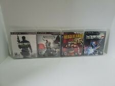 Lot of 4 Sealed PS3 Games Infamous, COD:MW3, Borderlands, Assassins Creed 3