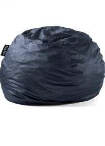 Big Joe Foam Filled Black Bean Bag/ Fuf Large with Removable Cover