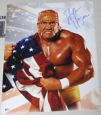 Hulk Hogan Signed 16x20 Photo BAS Beckett COA WWE Wrestlemania Picture Autograph