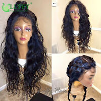 Natural Wave Peruvian Human Hair Full Lace Wigs Pre Plucked 13*6 Lace Front Wigs