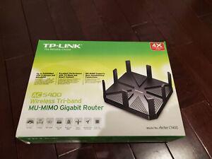 TP Link Archer C5400 AC5400 Wireless Tri Band MU MIMO Gigabit Router, Black