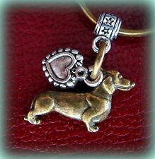 DACHSHUND DOG KEYCHAIN Jewelry - ArtDeco Style - Weiner Sausage Puppy Pup Doxie