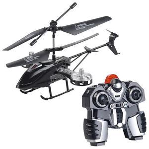 RC Heli: Ferngesteuerter 4-Kanal-Mini-Hubschrauber mit 5 Rotoren und Gyroskop