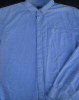 Armani Exchange Mens Button Front Long Sleeve Designer Cotton Shirt 2XL XX XXL