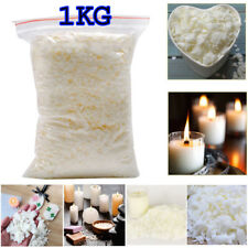Wax Soy 1kg Soya Flakes 100 Pure clean Burning  Candle Making 5kg No Soot DCUK