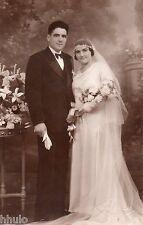 BL970 Carte Photo vintage card RPPC Couple mariage Périgueux Dordogne studio