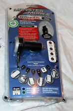 Monster Cable Mobile Car Charge-It Plus iTips Car Charging System NEW