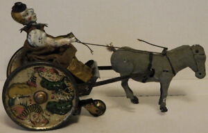 Lehmann Balky Mule Clown Tin Wind-Up Toy For Parts/Repairs