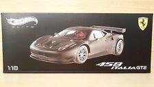 Ferrari 458 Italia GT2 (2012) scala 1/18 Hot Wheels Elite