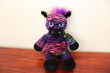 BAB Build A Bear Rainbow Zebra Horse Wild Style Stuffed Plush Toy 17 Inch