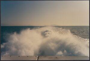 YZ1757 Dintorni di Napoli 1991 - Scia dell'imbarcazione - Fotografia d'epoca
