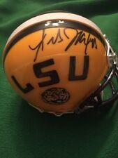Les Miles Signed LSU Tigers Mini Helmet COA