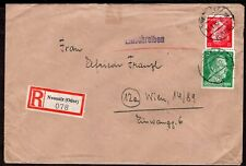 GERMANY REGISTERED COVER 1945 NOT CENSORED NEUSALZ -POLAND- TO WIEN