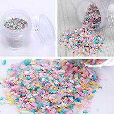 10g/Box Nail Art Sequins Crushed Shell Powder Mixed Color Decor UV Gel Tips DIY