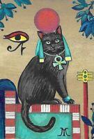 4x6 POSTCARD RYTA VINTAGE STYLE ART GODDESS EGYPT BASTATE BLACK CAT SPIRIT SUN