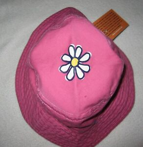 LIFE IS GOOD NWT LIG Daisy Sun Hat Brim Strap Pink Toddler Girls 12 24 month NEW