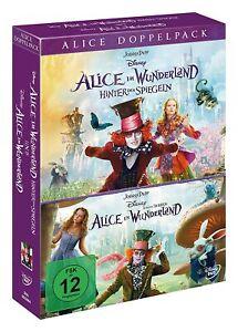 Alice im Wunderland - Teil: 1+2 [2 DVD's/NEU/OVP] Tim Burton / Johnny Depp