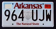 "ARKANSAS "" DIAMOND -  NATURAL STATE - 964 UJW "" AR Graphic License Plate"