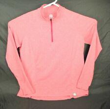 REI Co-Op Womens 1/4 Zip Long Sleeve Shirt Hiking Camping Red Size XL