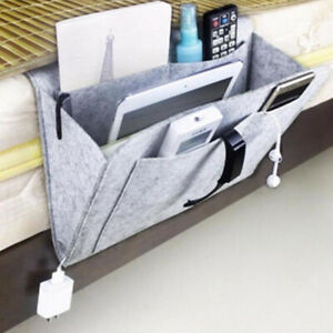 Sofa Bedside Storage Caddy Hanging Bags Felt Pocket Tidy Organizer Book Holders