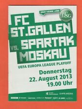 Orig.PRG   Europa League  2013/14   FC ST.GALLEN - SPARTAK MOSKAU  !!  SELTEN