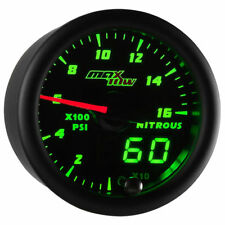 MaxTow 52mm Black & Green MaxTow 1,600 PSI Nitrous Pressure NOS Gauge - MT-DV14