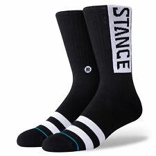Stance Men's Og Socks Black Clothing Apparel Footwear Active Skateboarding Skate