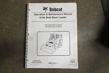 Bobcat S185 S 185 skid loader owners & maintenance manual