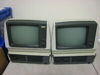 Lot of 2 Vintage Morrow Designs Computers with 2 Monitors READ DESCRIPTION