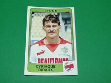 N°130 DIDAUX LILLE OSC LOSC PANINI FOOTBALL 86 CHAMPIONNAT FRANCE 1986