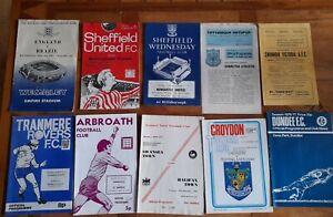 50 Football Programmes inc ENGLAND V BRAZIL 1963