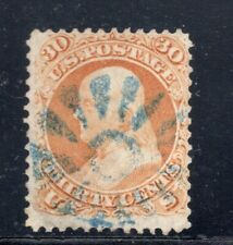 #71 Fancy Blue Pinwheel Cancel of Rutland, VT SCV. $210 (JH 4/19)