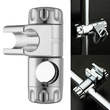 Adjustable Shower Head Holder Arm Mounted Universal Screw on Bracket Silver AU