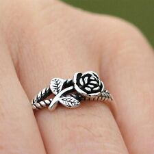 Cute Silver Plated Rings Retro Women Rope Line Rings Opening Finger Adjustable