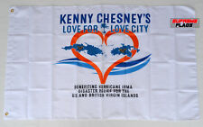 Kenny Chesney Flag Banner 3x5 Love for Love City Hurracane Irma No Shoes White